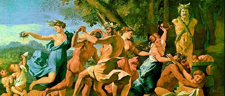 Античное праздненство: вакханалия